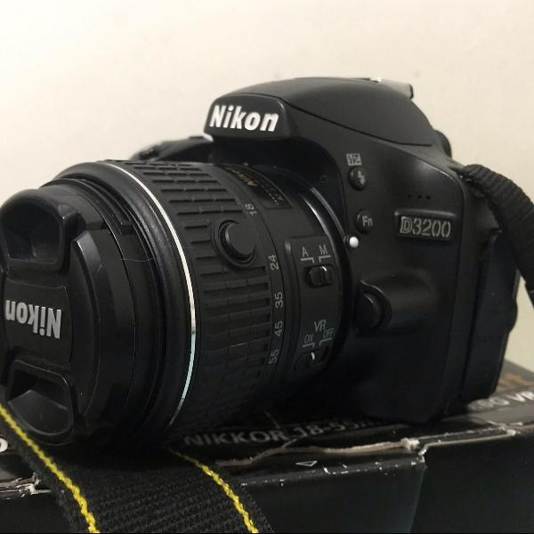 Câmera nikon d3200 kit vr 2