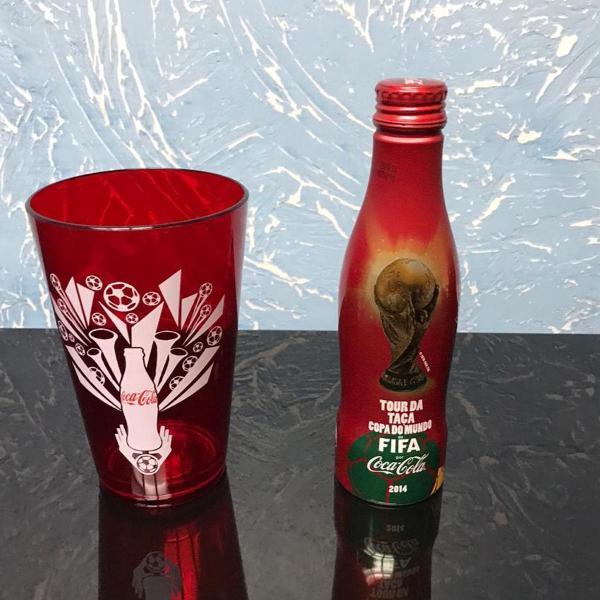 Garrafa coca cola copa do mundo 2014 e copo