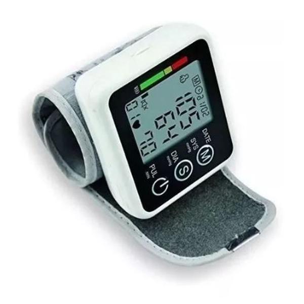 Medidor de pressão arterial digital monitor cardíaco lcd