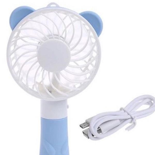 Mini ventilador portátil recarregavel estilo kpop