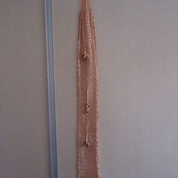 Porta papel higienico de croche artesanal usado