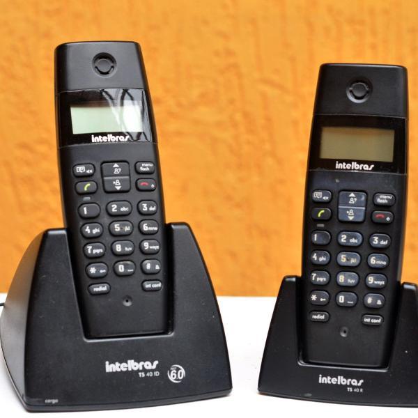 Telefone sem fio - intelbras ts40c c/ identificador de