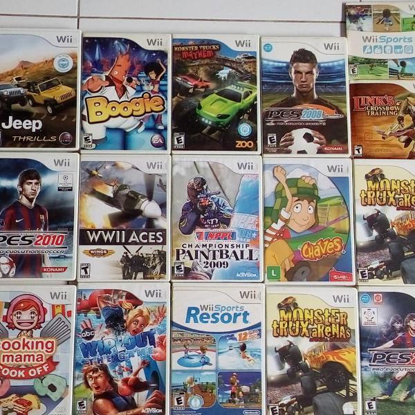 16 excelentes jogos originais nintendo wii.
