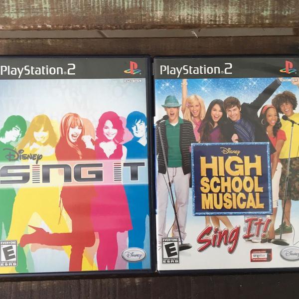 2 jogos de play 2 originais disney