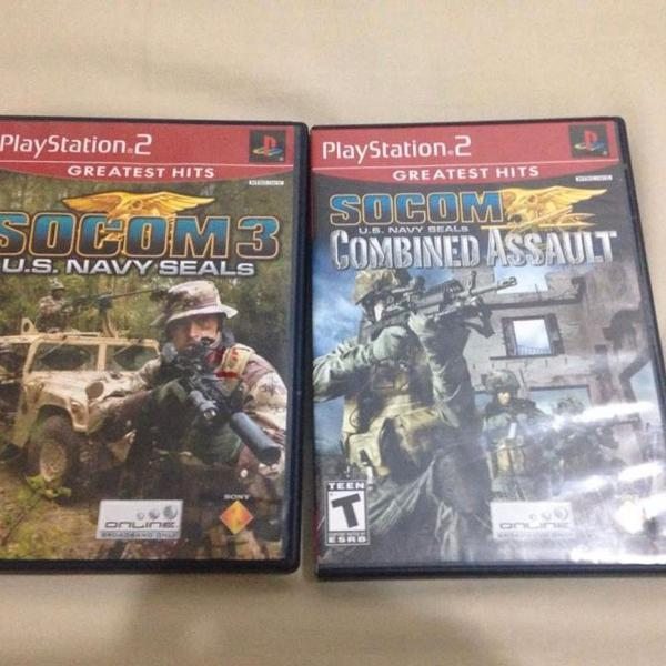 2 jogos playstation 2 socom 3 e socom combined assault ler