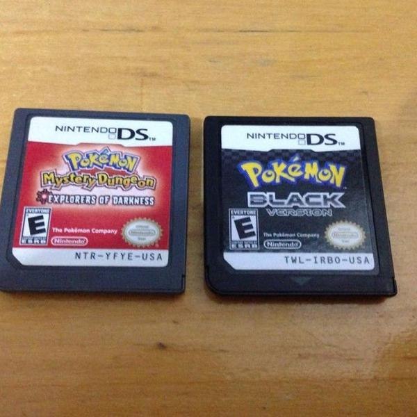 2 jogos pokemon nintendo ds black version e mystery dungeon