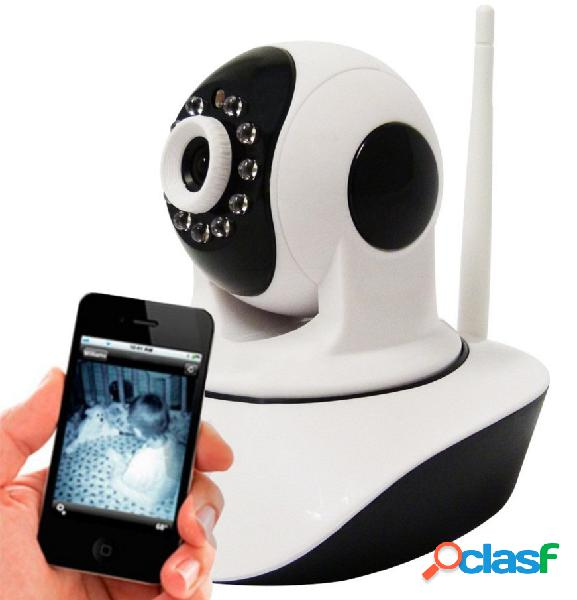 Câmera IP HD Áudio Angulo 360º Ircut 10m Noturna WiFi