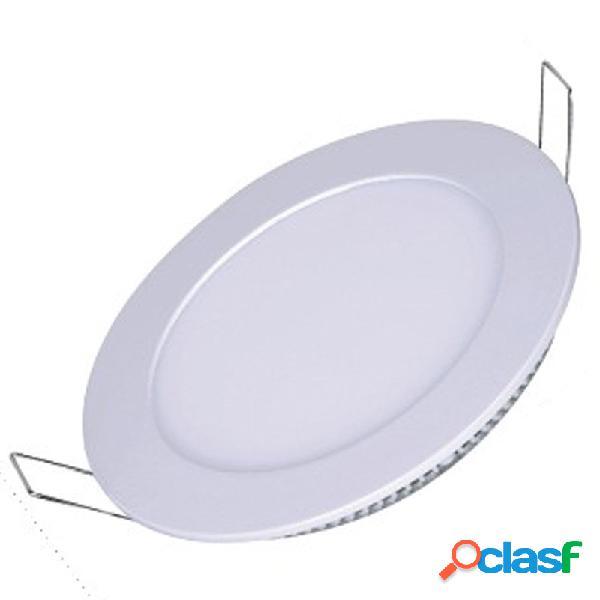 Painel Plafon Redondo Luminária Embutir Led 12w Bivolt Branco Quente