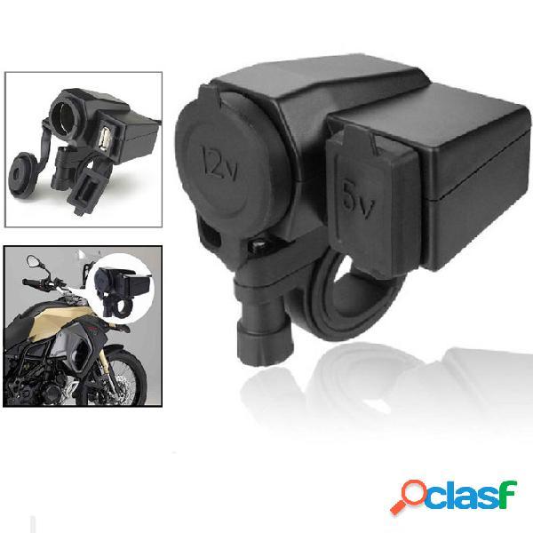 Tomada Carregador Celular e GPS Para Moto 12v USB 2.1A 5V
