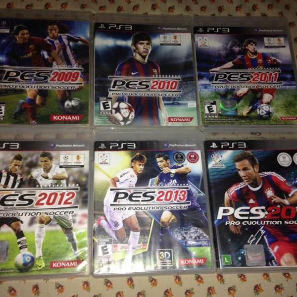 6 jogos pes pro evolution soccer ps3 konami mídia física