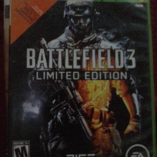 Battlefield 3 edição limitada xbox 360