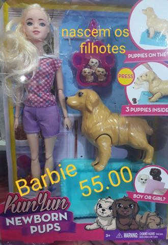 Boneca barbie vem com acessórios