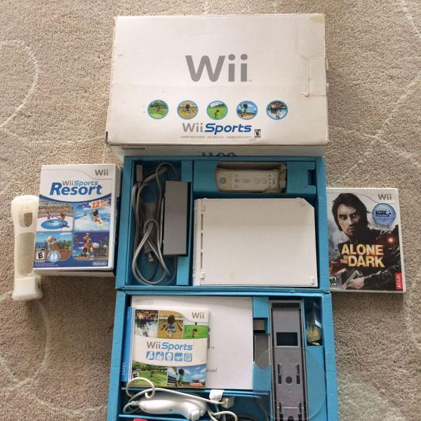 Console wii + 2 jogos