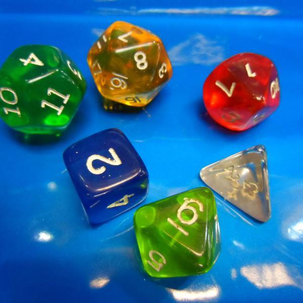 Dados de rpg, conjunto com 6 peças novas, varias cores