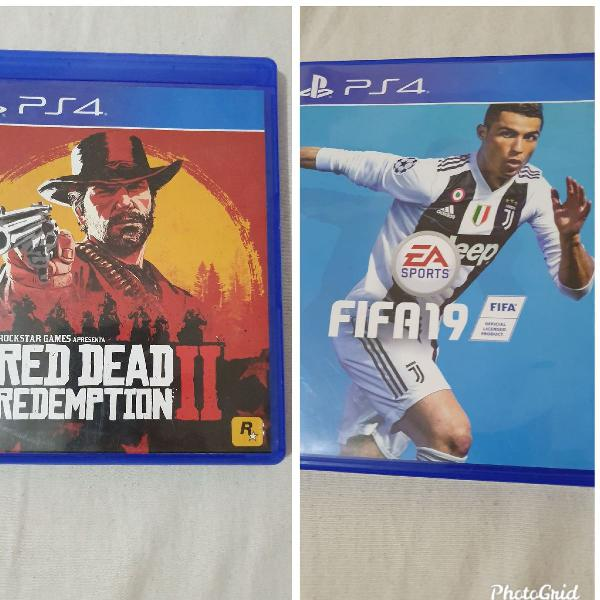 Fifa 19 e red dead ps4