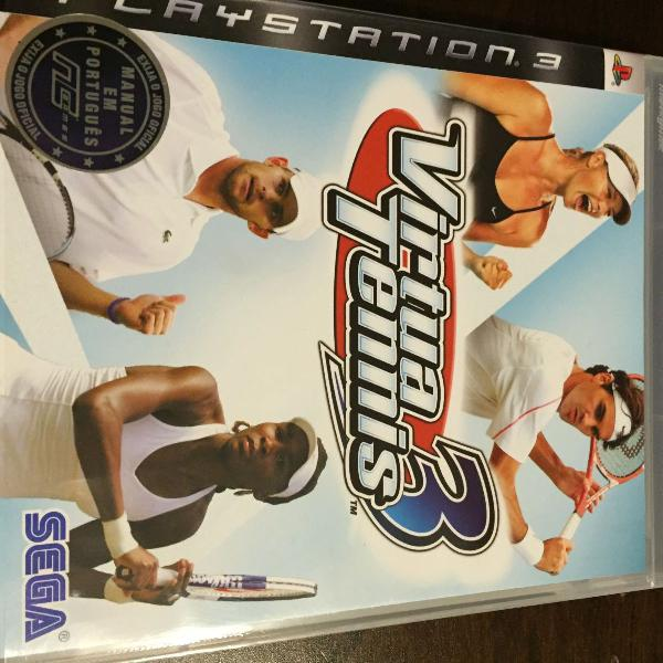 Jogo para ps3 - virtua tennis 3
