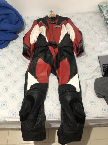 Macacao de couro para moto
