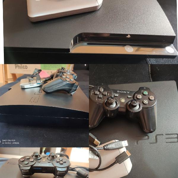 Playstation 3 120gb desbloqueado + hd externo 1t