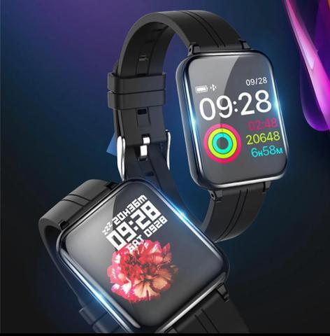 Smartwatch b57 compatível com android e ios