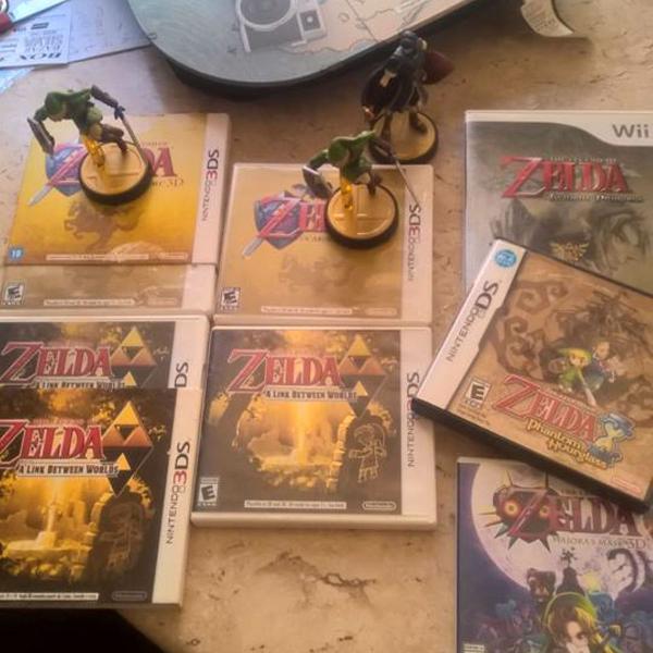 Zelda nintendo - game cube - wii - ds - amiibo