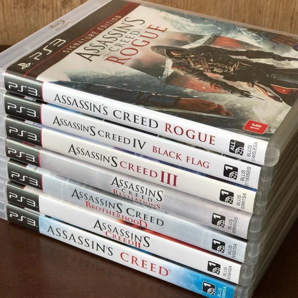 Assassins creed coleção 7 jogos originais - ps 3