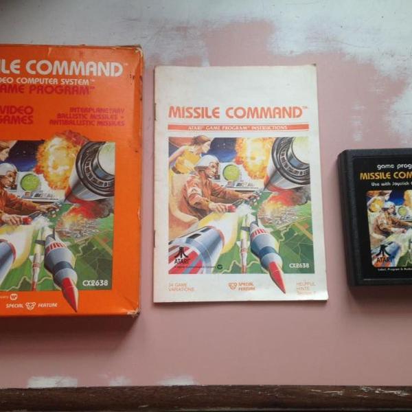 Atari 2600 missile command original completo 2600 r$330