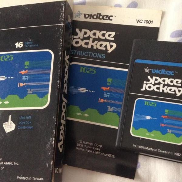 Atari 2600 space jockey original vidtec completo raro r$240