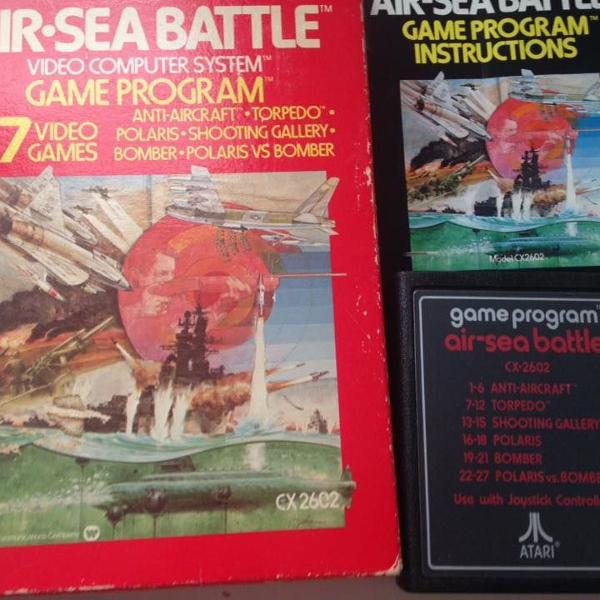 Atari air-sea battle 1978 completo caixa e manual original