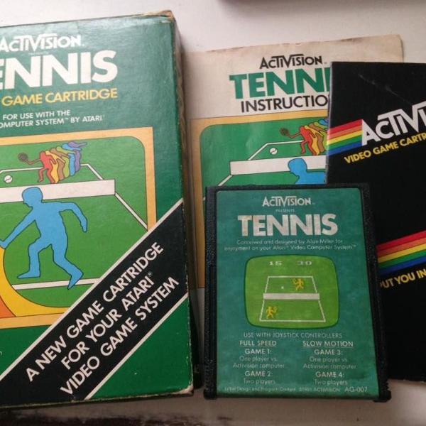 Atari tennis activision completo raridade r$290