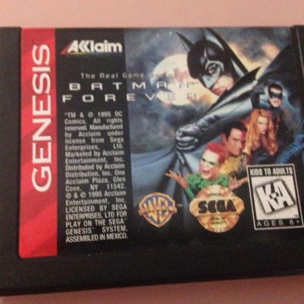 Batman forever cartucho sega genesis mega drive original