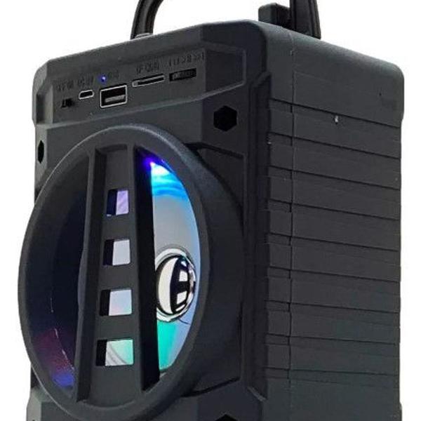 Caixa caixinha som portátil bluetooth tf sd rádio fm usb