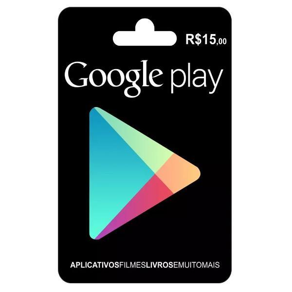 Cartão google play store gift card r$15 reais brasil