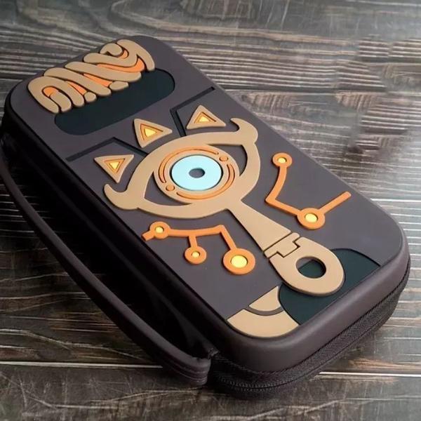 Case travel zelda para nintendo switch + película de vidro