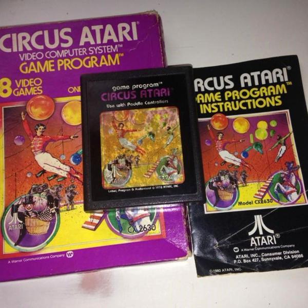 Circus atari original atari 2600 com caixa e manual r$299