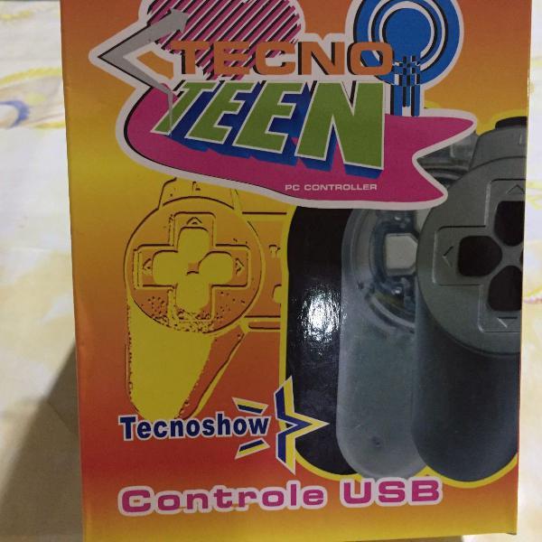 Controle com fio para pc preto fantasy tecnoshow pc-101