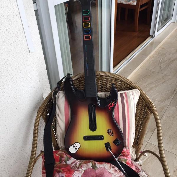 Guitarra guitar hero ps3 sem cabo/receptor