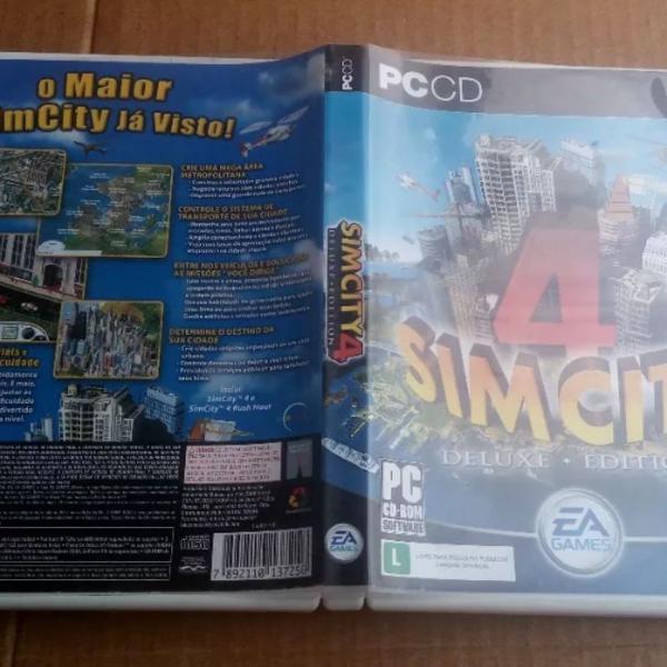 Jogo pc sim city 4 cd rom duplo deluxe edition