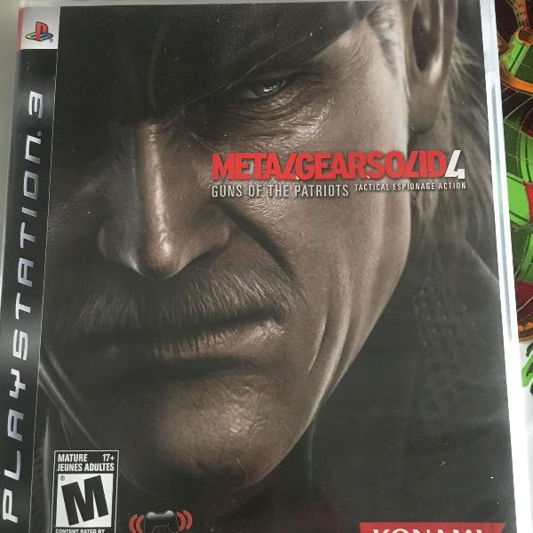 Jogo ps3 - metal gear solid 4 - original