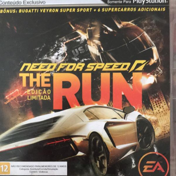 Jogo ps3 need for speed the run ediçao lim