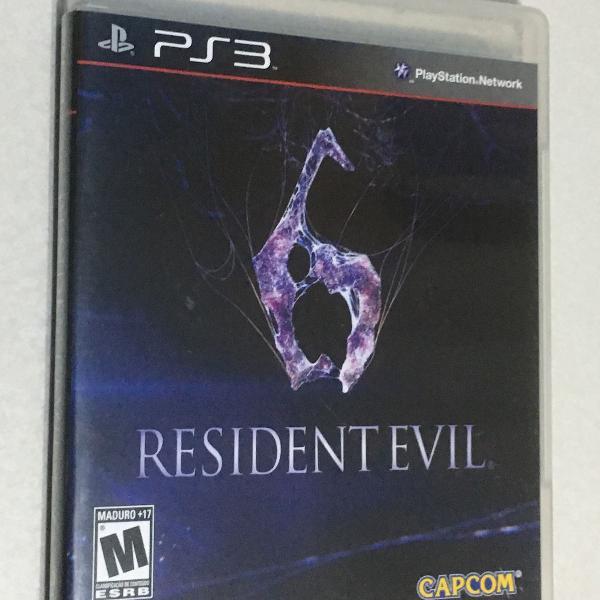 Jogo ps3 - resident evil 6 - capcom