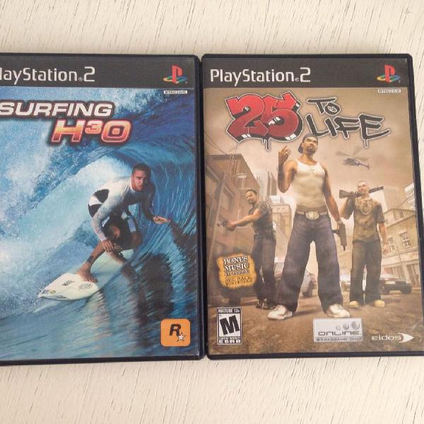 Jogos ps2 - surfing h30 + 25 to life