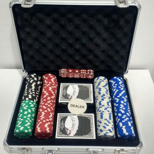 Maleta de poker 200 peças