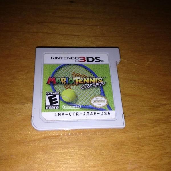 Mario tennis open nintendo 3ds só o card r$99
