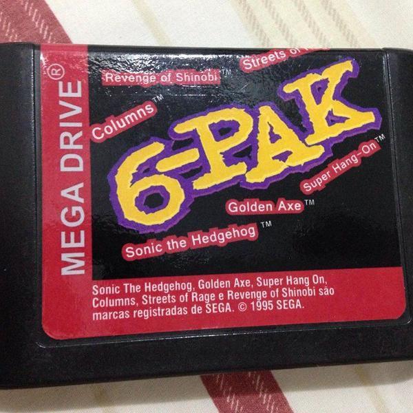 Mega drive 6-pak tec toy sonic shinobi golden axe r$101