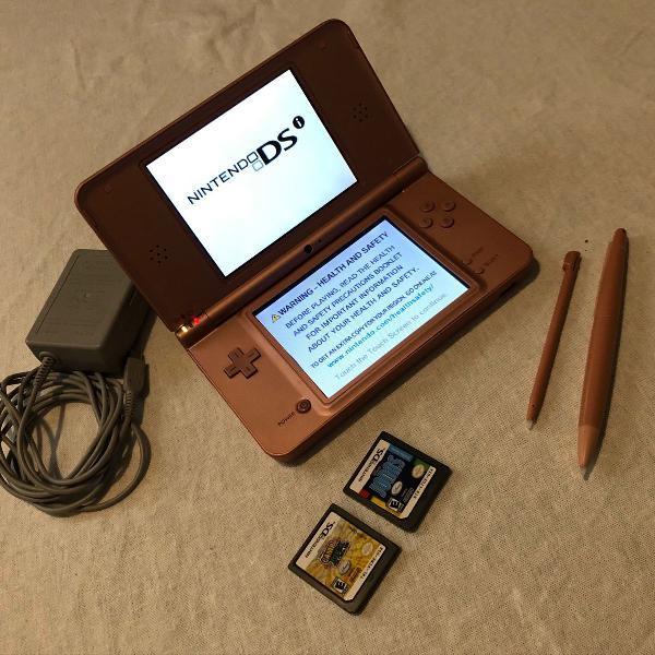 Nintendo dsi xl + 2 jogos