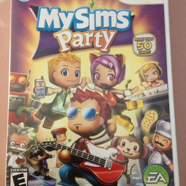 Nintendo wii my sims party original usado completo r$58