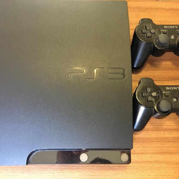 Playstation 3 + 2 controles + 9 jogos
