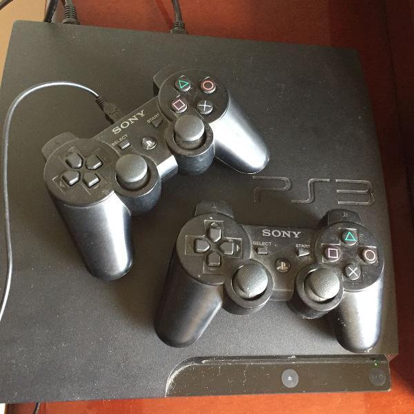 Playstation 3 slim + 1 jogo
