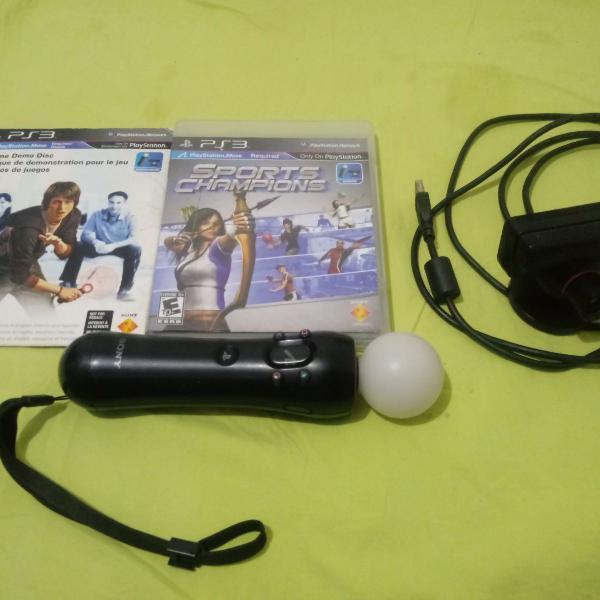 Playstation move (ps move) para ps3 com 2 jogos