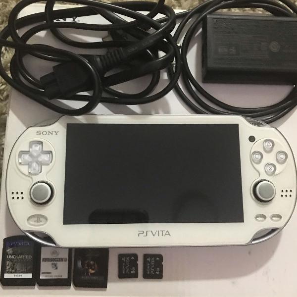 Psp vita modelo pch-1001 (branco) firmware 3.63